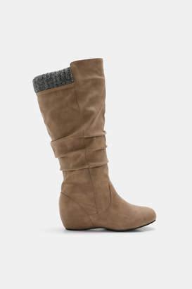 Ardene Knee High Wedge Boots