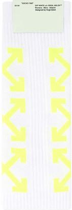 Off-White C/O Virgil Abloh Arrow print socks $49.50 thestylecure.com