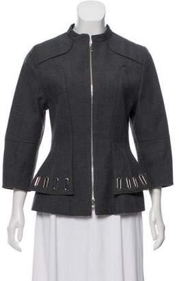 Andrew Gn Virgin Wool Zip-Up Blazer