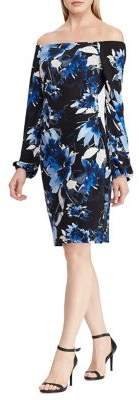 Lauren Ralph Lauren Floral Off-the-Shoulder Dress