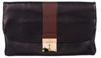 Marc Jacobs Leather Fold-Over Clutch