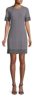 MICHAEL Michael Kors Leopard Printed Border Dress