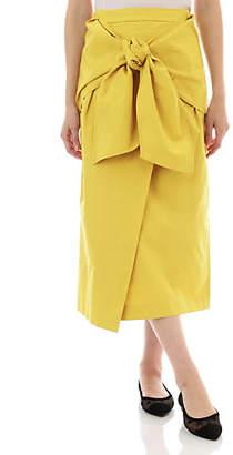 Anglobal Shop (アングローバル ショップ) - Anglobal Shop Elin / Waist Bow Midi Skirt