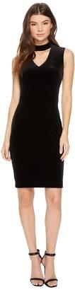 Calvin Klein Keyhole Velvet Sheath CD7V135V Women's Dress
