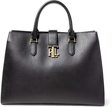 Ralph Lauren Lauren Pebbled Leather Brigitte Tote