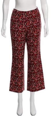 Miu Miu High-Rise Printed Pants