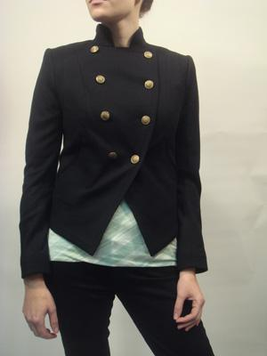 RAG & BONE black double breasted jacket with gold buttons