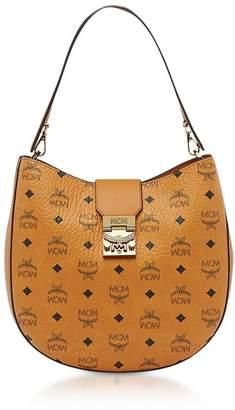 MCM Patricia Visetos Cognac Medium Hobo Bag