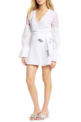 The Fifth Label Riverine Smocked Wrap Dress