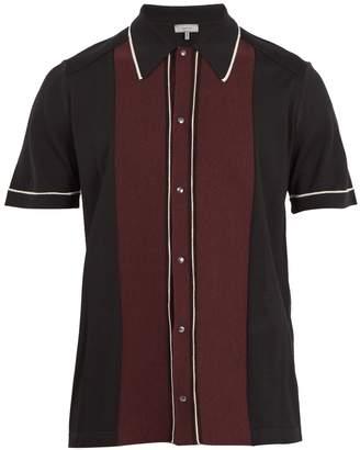 Lanvin Contrast-panel button-down wool polo shirt