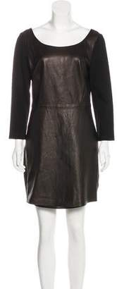 Diane von Furstenberg Leather-Paneled Mini Dress w/ Tags