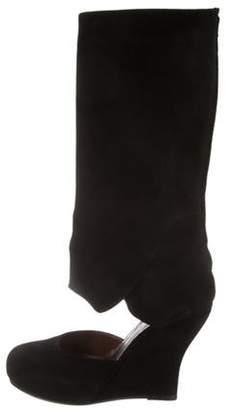 Marni Knee-High Mary Jane Boots Black Knee-High Mary Jane Boots