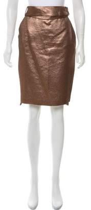 Schumacher Metallic Knee-Length Skirt