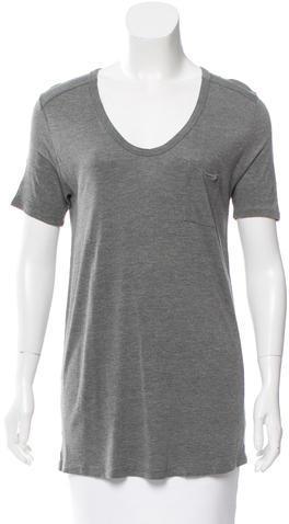 Alexander WangT by Alexander Wang Short Sleeve Scoop Neck T-Shirt