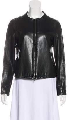 Calvin Klein Collection Leather Zip Jacket