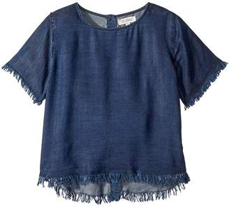 DL1961 Kids Dark Wash T-Shirt w/ Button Down Back Girl's T Shirt