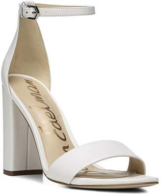 fa7b3546b Sam Edelman White Ankle Strap Women s Sandals - ShopStyle