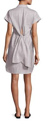 Rag & Bone Ara Textured Tie-Back Shirtdress $450 thestylecure.com