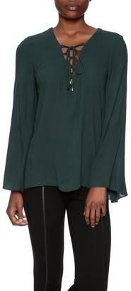 Alythea Lace Up Blouse $59 thestylecure.com