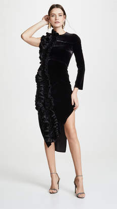 Awake Asymmetric Ruffle Dress