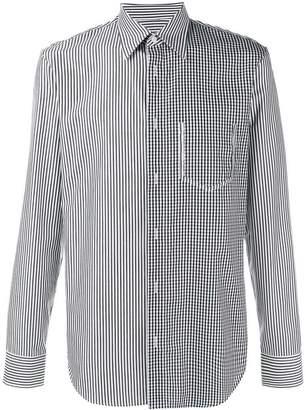 Maison Margiela blocked stripe and gingham shirt