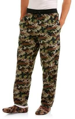 Generic Big Men's microfleece sleep pants and slippers set, 2XL