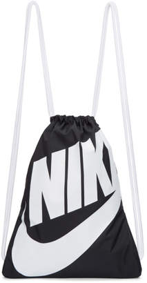 Nike Black and White Heritage Logo Gym Backpack