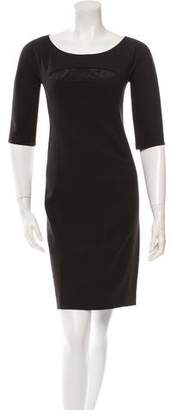 Narciso Rodriguez Half-Sleeve Cutout-Accented Dress