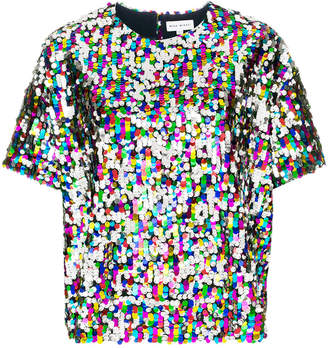 Mira Mikati paillette T-shirt