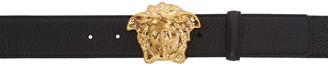Versace Black Medusa Belt $525 thestylecure.com