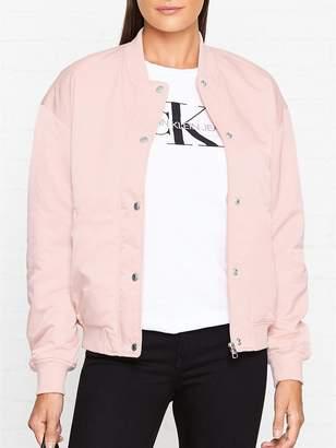 Calvin Klein Snap Button Nylon Bomber Jacket