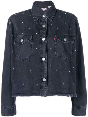 Levi's cropped denim shirt