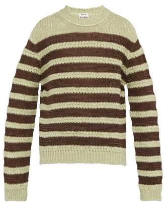 Acne Studios Striped Sweater - Mens - Brown