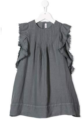 Il Gufo grey ruffled dress