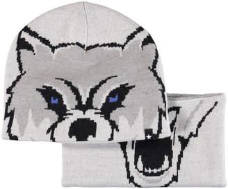 Molo Kleo Wolf Intarsia Hat & Scarf Set