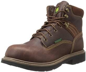 John Deere Men's 6 Brn Waterproof Nst Farm/Wrk LU Work Boot