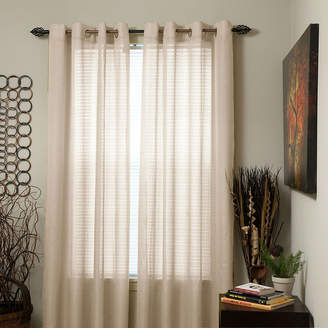 Cambridge Silversmiths HOME Home Olivia Jacquard Grommet-Top Curtain Panel