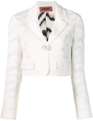 Missoni cropped blazer jacket