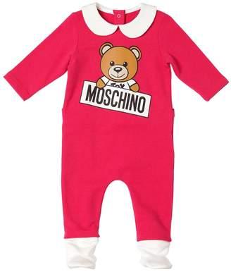 Moschino Toy Logo Printed Cotton Romper