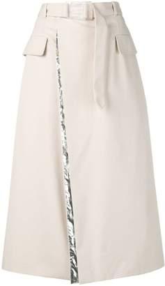 Maison Margiela belted A-line skirt