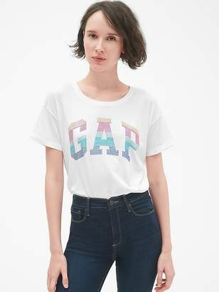 Gap Embellished Logo Short Sleeve Crewneck T-Shirt