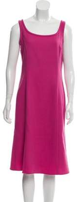 Armani Collezioni Virgin Wool Flared Shift Dress Fuchsia Virgin Wool Flared Shift Dress