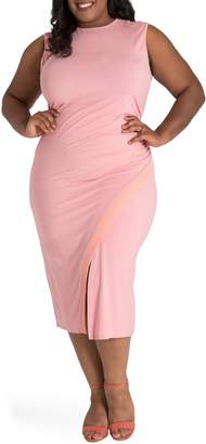 Justice Poetic Brianna Jersey Sheath Midi Dress