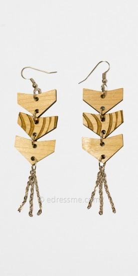 Natural Arrow Earrings by Good Wood