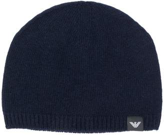 Emporio Armani cashmere knit beanie
