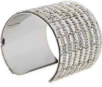Romeo & Juliet Couture Wide Crystal Block Cuff Bracelet