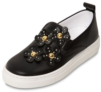 Little Marc Jacobs Leather Slip On Sneakers