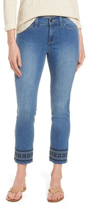 Women's Nydj Sheri Embroidered Stretch Slim Crop Jeans $148 thestylecure.com