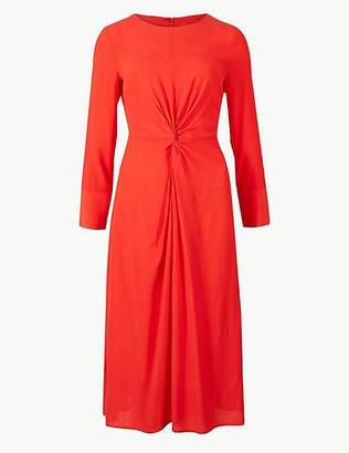 Marks and Spencer Twist Front Fit & Flare Midi Dress