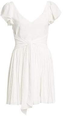 Cinq à Sept Women's Genesis Tie-Waist Pleated Mini Dress